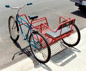 2 people Beach Cruiser Bike and Sidecar. for when I am OLDER! Tricycle Bike, Trike Bicycle, Baby Bicycle, Lowrider Bicycle, Bicycle Panniers, Wooden Bicycle, Recumbent Bicycle, Folding Bicycle, Bicycle Shop