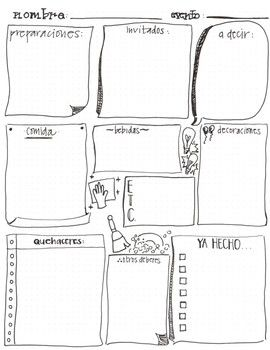 Spanish Bullet Journal Entry Worksheet Planning A Party Bullet