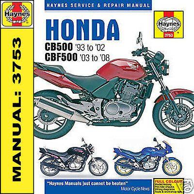 Advertisement Ebay Haynes Honda Cb500 Cbf500 1993 2008 Manuel 3753 Neuf In 2020 With Images Honda Honda Jazz Vw Passat