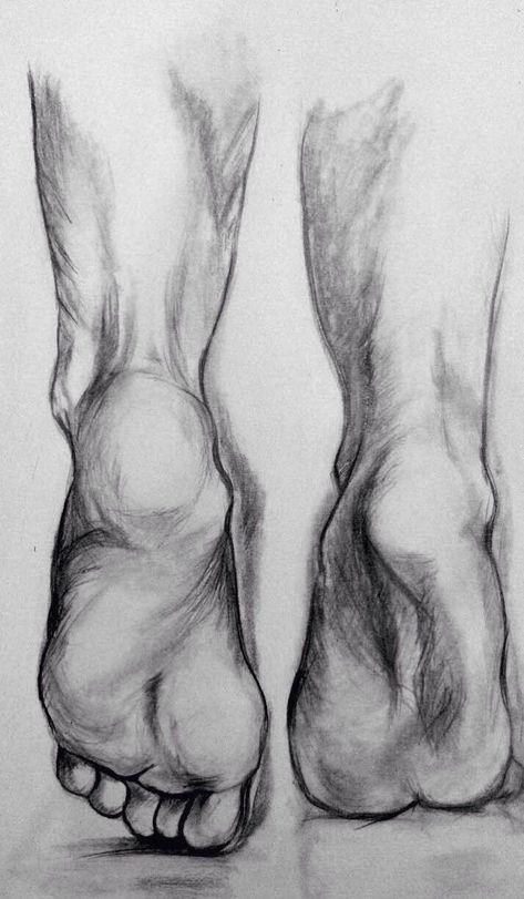 Feet draw charcoal - #pencilart