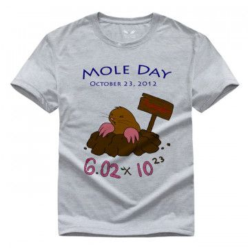 Scientific Mole Chemistry Men and women T-shirt Pure cotton Round collar t shirt High quality Hey Ladies tee shirt for women