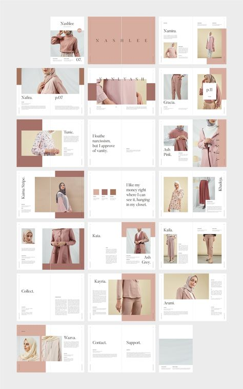 NASHLEE Fashion Collection Catalog by flowless on Creative Market – fonts&graphics – layout Portfolio Design Layouts, Book Design Layout, Fashion Portfolio Layout, Fashion Layouts, Design Portfolios, Indesign Presentation, Presentation Layout, Powerpoint Design Templates, Booklet Design