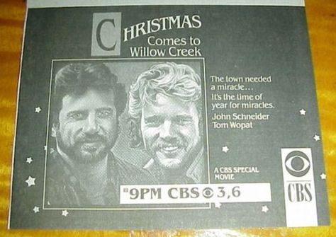 Christmas Comes To Willow Creek.Christmas Comes To Willow Creek Tv Guide Ad John Schneider
