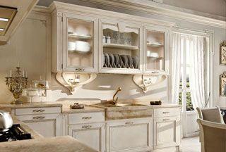 Cameretta provenzale ~ Arcari arredamenti cucine stile provenzale in the kitchen