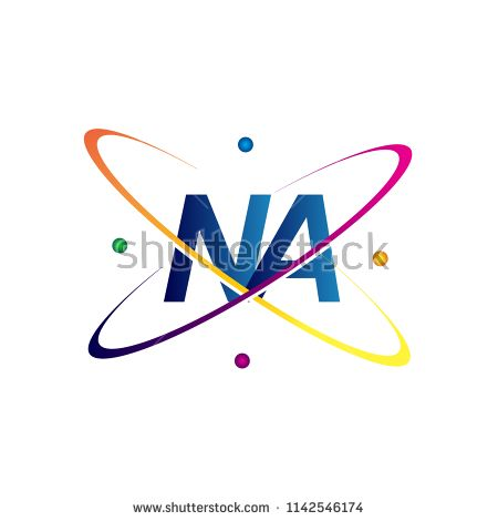 Initial Letter Na Logotype Science Icon Colored Blue Red Green And Yellow Swoosh Design Vector Logo For Business And Science Icons Logotype Initial Letters