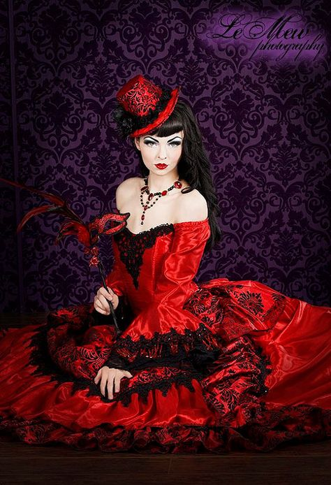 293a51728e6e Gothic Victorian Steampunk Antoinette Fantasy Masquerade Gown Any Color or  Size. $950.00, via Etsy.