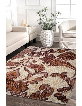 Floral Branches Handtufted Wool Area Rug Rug Happy Style House Ideas Carpet Decor Antiques Savings Hou Eclectic Rugs Wool Area Rugs Easy Home Decor