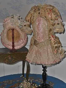 Superb French Bebe Silk Sateen Costume with Straw Hat - from ~ WhenDreamsComeTrue ~ found @Doll Shops United http://www.dollshopsunited.com/stores/whendreamscometrue/items/1305610/Superb-French-Bebe-Silk-Sateen-Costume-Straw-Hat #dollshopsunited