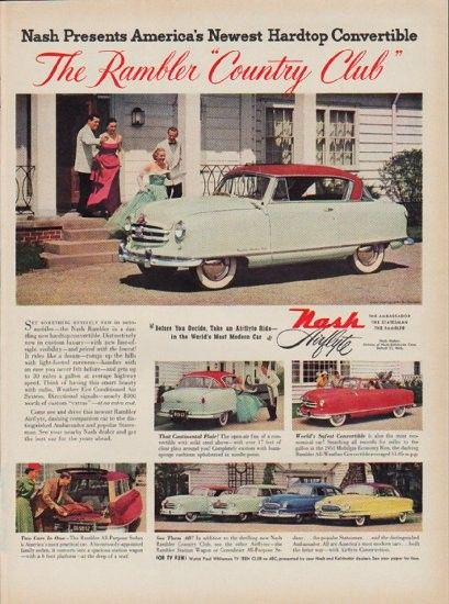 1951 Nash Ad Country Club Convertible Cars And Ads