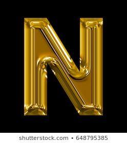 Letter N Rounded Shiny Golden Isolated On Black Background Alphabet Wallpaper Lettering Alphabet Quilling Designs