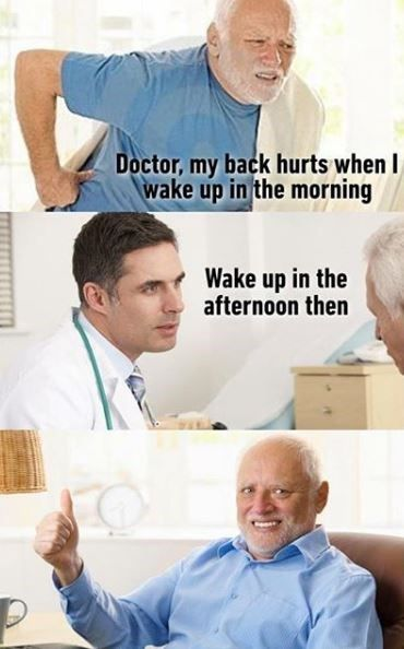 15 Stock Photo Memes That Are Way Too Hilarious For Words Really Funny Memes My Back Hurts Doctor Jokes