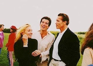 John and Carolyn with Arnold Schwarzenegger.