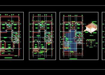 Autocad House Plan Architectural Dwg Drawing Download 35 X70 G 2 Floor In 2020 House Plans Duplex House Plans Duplex House