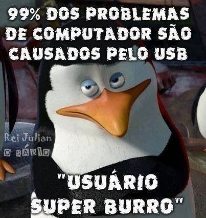 99% dos problemas de computador são…