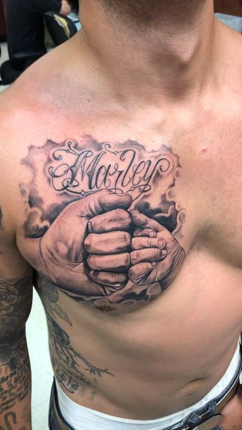 Father and Son Fist Bump Tattoo