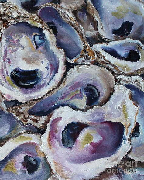 Oyster Shells 2 Painting by Kristine Kainer