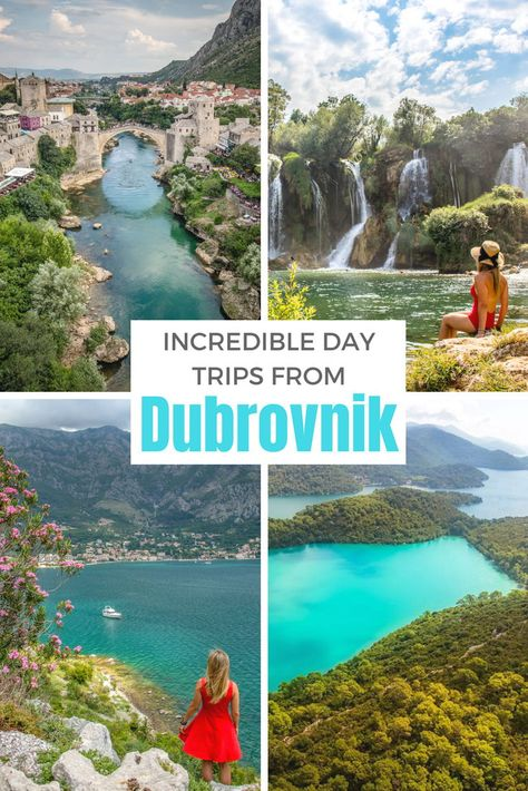 The best day trips from#Dubrovnik,#Croatia, including Cavtat, Mljet National Park and trips across the border into#Bosniaand#Montenegro.#Travel #Balkans