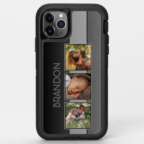 Custom Chic Gradient Gray Photo Name On Otterbox Iphone Case Zazzle Com Iphone Cases Otterbox Otterbox Iphone Iphone Cases