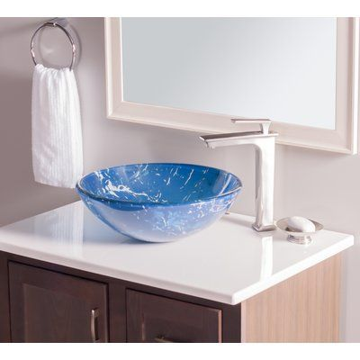 Ls Az292 Anzzi Posh Modern Tempered Glass Vessel Bowl Sink In Amber Gold Round Vanity Countertop Sink Bowl With Pop Up Drain Gold Top Mount Bathroom Sinks Above Counter Tools Home Improvement