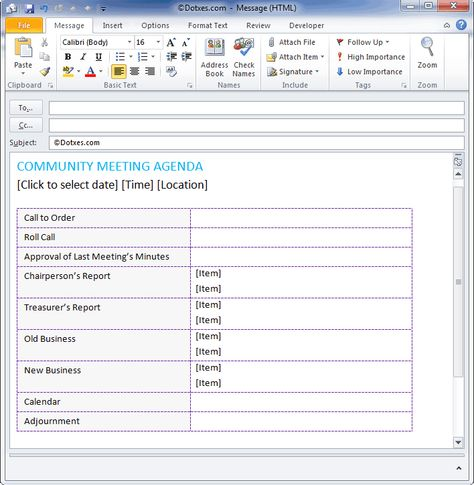 Community meeting agenda to make your meetings better Agenda - management meeting agenda template