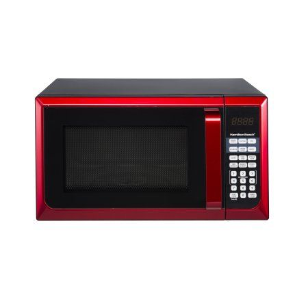 Home In 2020 Red Microwave Countertop Microwave Countertop