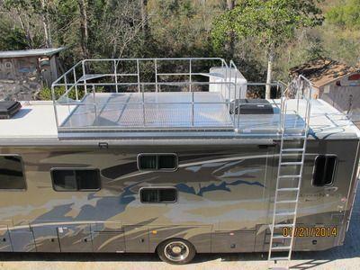 Rv Roof Observation Deck Race Deck Viewing Platform For Sale In Deckdesigns Deck Building Cost Building A Deck Deck Design