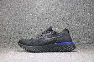 509fd10350f5 Mens Womens Shoes Nike Epic React Flyknit Black Racer Blue AQ0067 ...