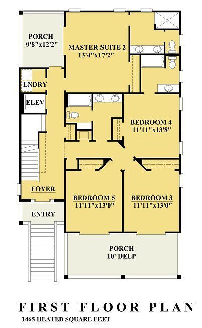 Sunset Cove Ii Coastal House Plans From Coastal Home Plans Beach House Floor Plans Beach House Room Coastal House Plans