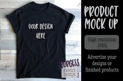 Download Mock Up Basic Black Tee Psd Mockup Template Design Mockup Free Mockup Free Packaging Mockup