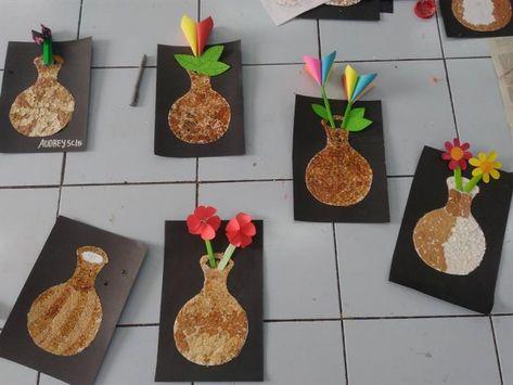 550 Gambar Kolase Bunga Dari Cangkang Telur Hd Kolase Gambar Bunga