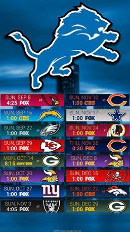 Detroit Lions 2019 Mobile City Nfl Schedule Wallpaper Detroit Lions Detroit Lions Wallpaper Minnesota Vikings Wallpaper