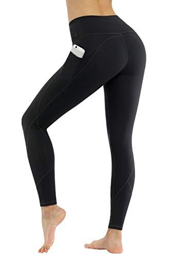 High Waist Tummy Control 4 Way Stretch Yoga Pants for Women Workout Running Leggings with Pockets