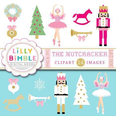 50 Off Sale Nutcracker Clipart Christmas Sugar Plum Fairy Ballet