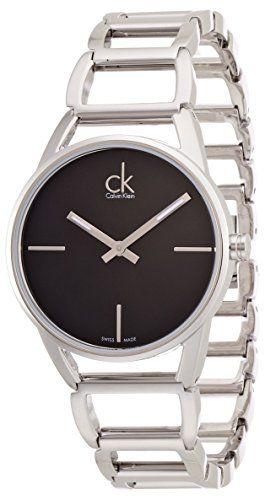 Calvin Klein Damen Armbanduhr Xs Ck Stately Analog Quarz Edelstahl K3g23121 Calvin Klein Damen Calvin Klein Uhr Armbanduhr