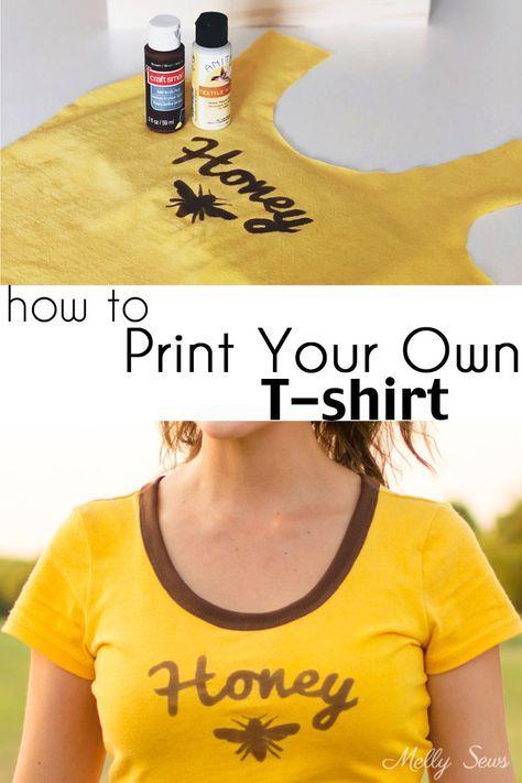 How To Make A Custom T Shirt Diy Tutorial Melly Sews Diy T Shirt Printing Diy Shirt Printing Diy Prints