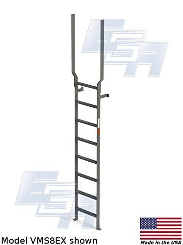 135 Inch 8 Rung Steel Vertical Ladders With Rail Extensions By Ega Products To Check Out Additionally For This Product See The Picture Ladder Vertical Ega