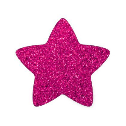 Hot Pink Glitter Star Sticker Pink Gifts Style Ideas Cyo Unique Glitter Stickers Star Stickers Birthday Cake Topper Printable