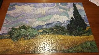 How To Frame A Jigsaw Puzzle Without Glue Awesome Idea Of My Puzzle I Just Completed Puzzle Frame Diy Puzzles Jigsaw Puzzles