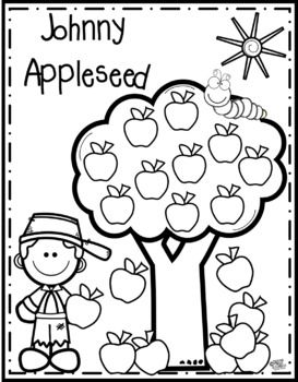 FREE Johnny Appleseed Color Page. | Johnny appleseed activities, Johnny  appleseed, Apple coloring pages