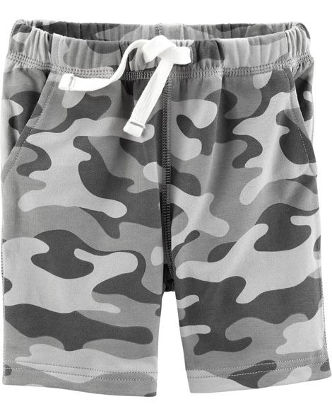 Red Carters Baby Boys Pull-On Mesh Shorts