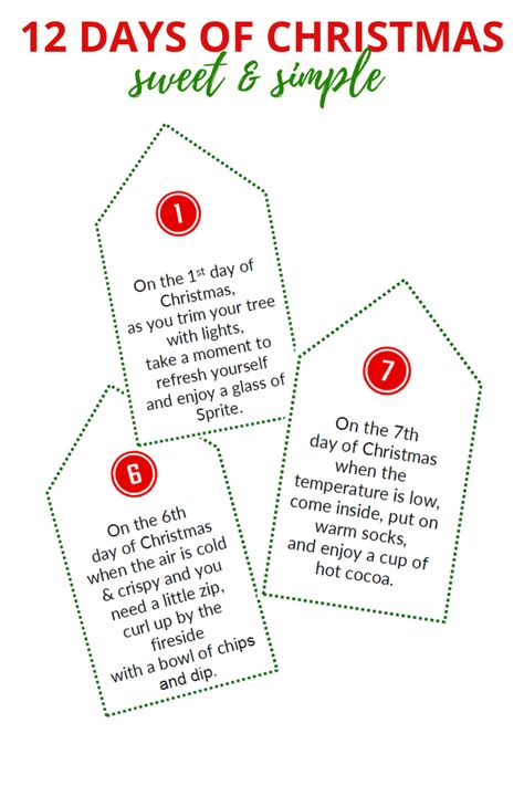 Sweet & Simple 12 Days of Christmas (Poem Tags & Gift List) – So Festive!