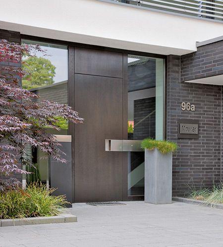 Haustüren modern grau  moderne Haustür in Holz | Außen | Pinterest | moderne Haustür ...