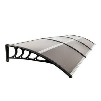 Alvin 6 5 Ft W X 3 Ft D Polycarbonate Standard Door Awning Outdoor Awnings Outdoor Window Awnings Snow Protection