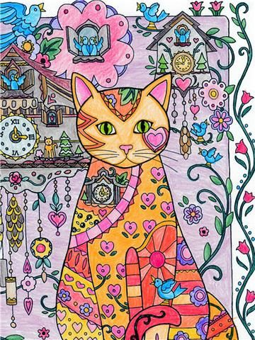 Arty The Cat At Home Diamond Painting Treasure Studios Art Kitten Drawing Cat Coloring Book Cat Painting
