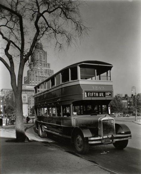 Bus, Washington Square c. 1936. Source: NYPL