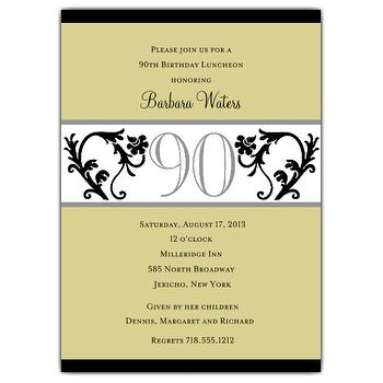 90 Years Birthday Invitation Templates Printable Free Invitations