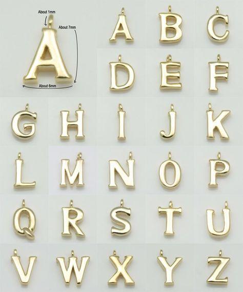 Brass Beads Matte Rhodium Upper Case Alphabet Capital Letter 2pcs - 4.8mm x 7mm  Alphabet  Initial  Letter  Script  BMS136-Y Y