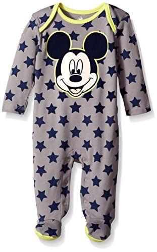 Disney Mickey Mouse Baby Boys Sleep N Play Footies