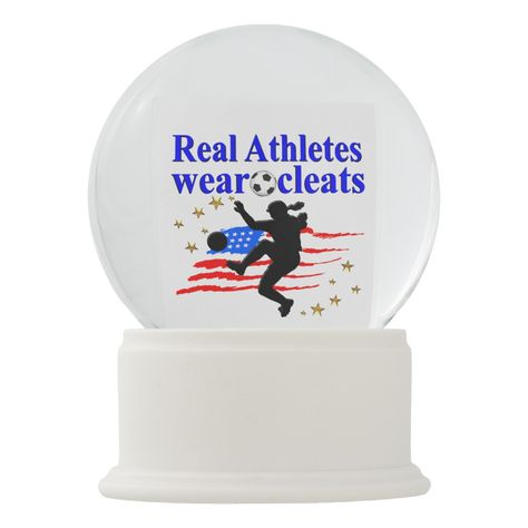 Real Athletes Wear Cleats Soccer Design Snow Globe Zazzle Com In 2020 Volleyball Designs Personalised Snow Globes Soccer Inspiration