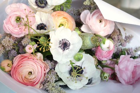 Anemones+and+Ranunculus+Flowers Blog Love and Photography Styling from Concrete and Honey